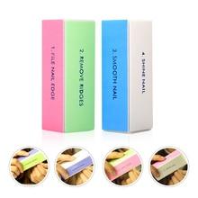 Полировка Шлифовка ногтей буферный блок пилочки Акриловые Педикюр красочный буферный блок Маникюр для дизайна ногтей идеальное использование