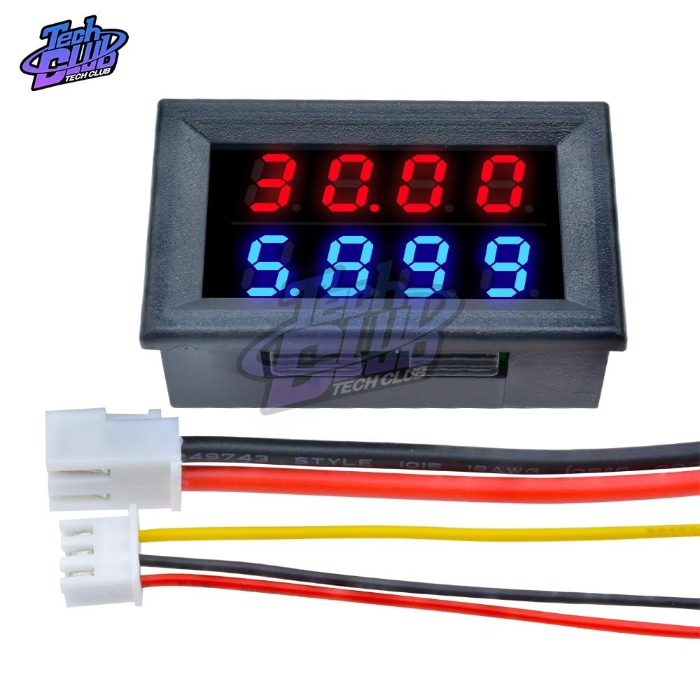 100 в/200 в 10A Мини цифровой вольтметр Амперметр Высокоточный измерительный прибор 5-проводный 4-разрядный точный измеритель напряжения тока