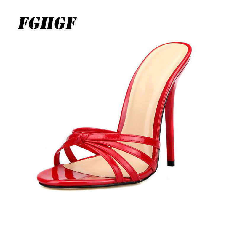 High Heel Shoes Walking Show WomenS 13 Cm Banquet Wedding Sexy Sandals Size Slippers 37-50