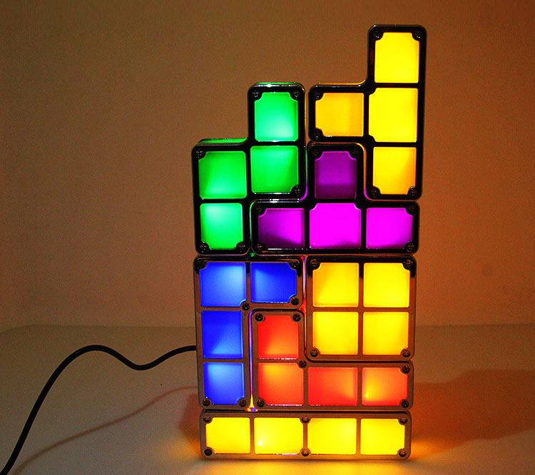 ... DIY Tetris Puzzle Light Stackable LED Desk Lamp Constructible Block LED  Light Toy Retro Game Tower ... - Baby Night Light Picture - More Detailed Picture About DIY Tetris