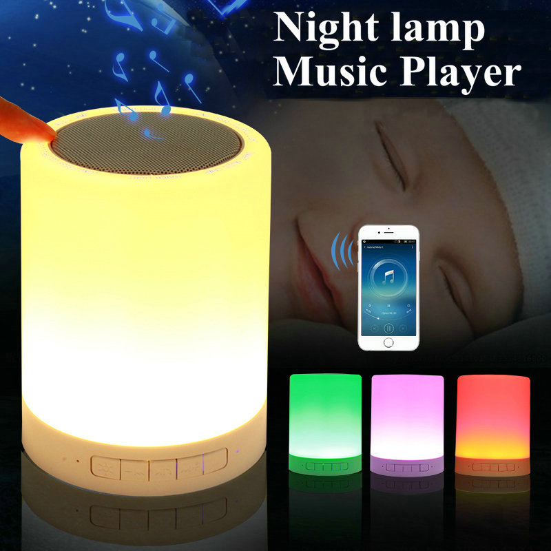 LED Baby Touch Control RGB Night Light Novelty Kids Wireless Table Lamp Girl Boy Gift USB Sensor with Bluetooth Music Speaker remote control led light creative monje smart air purifier wireless night lights sensor lamps gift table desk lamp