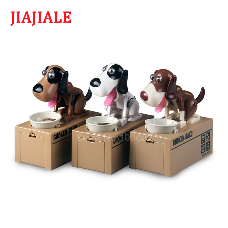 JIAJIALE So Cute Dog Saving Box Put Coins Under Pressure Automatic  Saving Banks Money Saving Box Toys Gifts For Kid