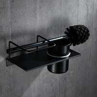 A1 European style black 304 stainless steel toilet brush bathroom antique toilet brush holder LO5191