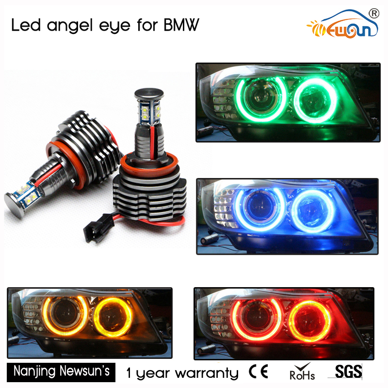 Upgrade Cree Chips H8 40W LED Angel Eyes for E92 E87 E82 E93 E70 E71 E90 E91 E60 E61 E63 E64 super bright LED Marker Bulbs Lamp amber 1 set angel eyes for bmw e60 e61 e63 e64 e70 x5 e71 x6 e82 e87 e89 z4 e90 e91 e92 e93 80w h8 cree led chips marker bulb