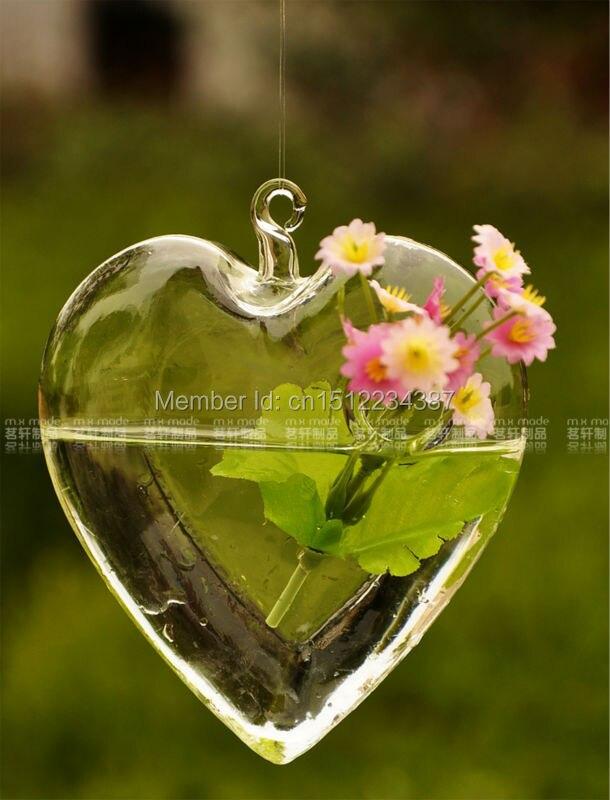 무료 배송 패션 매달려 투명 유리 꽃병 현대 홈 장식 패션 수경 꽃