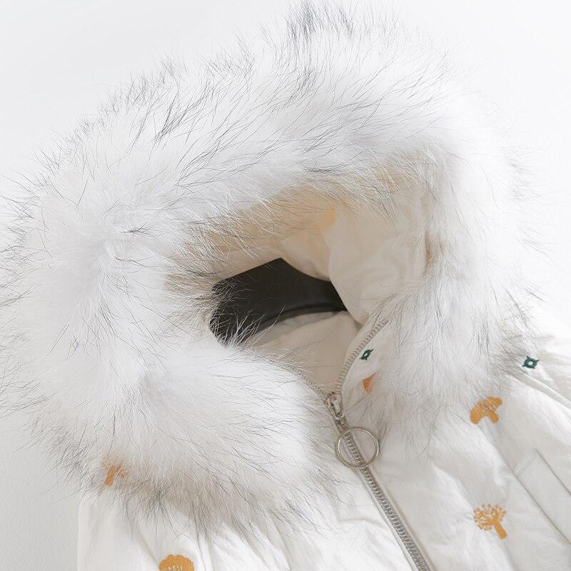 Hiver Canard Bleu De Vers Laveur Mode Chaud Conception Épais Capot Bas Raton marine Veste Fourrure Manteau Garniture 90 Le Blanc Blanc Duvet 81029e Femelle Npi Réel Femmes wIvPrIFq