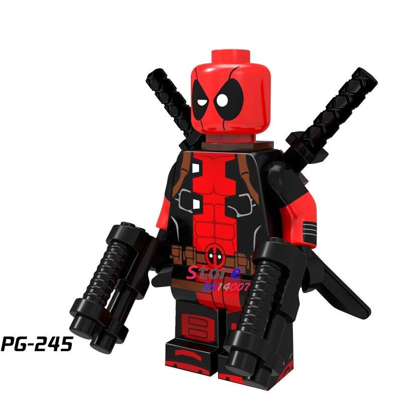 50 stücke super heroes marvel comics modell Dark Red Bewaffneten Deadpool baustein ziegel für kits kid mädchen haus spiele kinder spielzeug-in Sperren aus Spielzeug und Hobbys bei AliExpress - 11.11_Doppel-11Tag der Singles 1