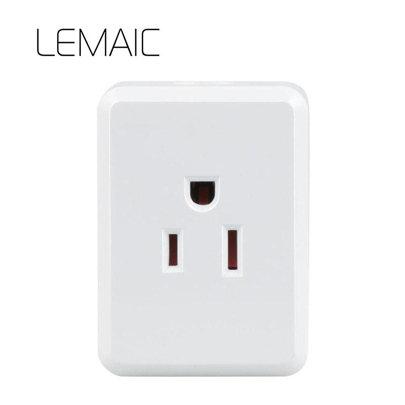 LEMAIC Великобритании Мощность метр монитор 16A + таймер Wi-Fi разъем выход Smart remote беспроводного управления для iphone Ipad Android