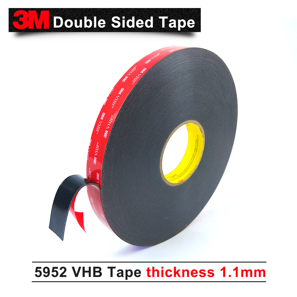US $178 95 |3M VHB 5952 3m black double sided tape Outstanding durability  performance VHB tape two side acrylic adhesive 15mm*33m/5rolls/lot-in Tape