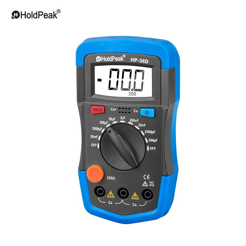 HoldPeak HP-36D Mini Multimeter LCD Digital Capacitance meter Capacitor Tester pF mF Circuit Gauge 36D Back Light 1999 Counts mini multimeter holdpeak hp 36c ad dc manual range digital multimeter meter portable digital multimeter
