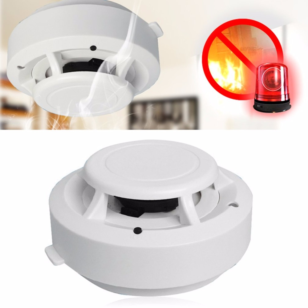 LESHP Photoelectric Smoke Fire Detector For All GSM Home Security Alarm System Fire Protection Battery Powered Alarm Tester wireless smoke fire detector smoke alarm for touch keypad panel wifi gsm home security system without battery
