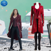MANLUYUNXIAO Scarlet Witch Cosplay Costume Avengers Age of Ultron Wanda Maximoff Scarlet Witch Costume For Women Custom Made