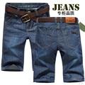 T китай дешевые оптовая 2016 летний новый летние мужские джинсовые шорты мужские прямые тонкие 5 капри случайные джинсы