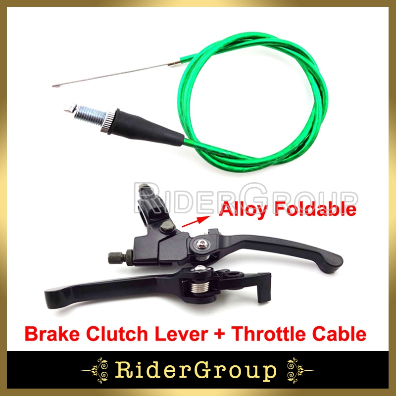 Lever And Throttle Cable : Pit bike handle brake lever throttle cable for xr crf