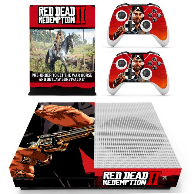 US $8 99 |Red Dead: Redemption 2 Vinly Skin Sticker Decals For XBOX One S  Console With Two Wireless Controller Skin-in Stickers from Consumer
