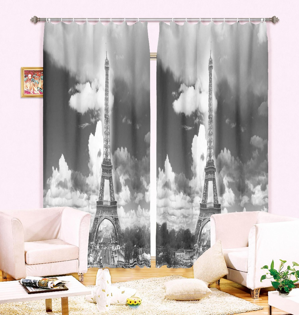 MYRU 140*260 Cm 3d Eiffel Tower Window Curtains For Living Room Luxury  Blackout Children Curtains For Bedroom