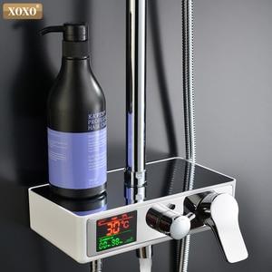 Image 3 - XOXO doccia di lusso acqua dinamico display digitale intelligente e doccia rubinetto led rubinetto doccia set Da Bagno Miscelatore 88010