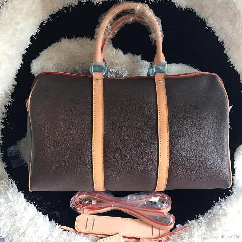 2018 nuova moda borsa da viaggio borsa delle donne dimensione 45/50/55 keepall borsa del cuoio genuino con l'alta qualità spedizione gratuita