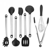 8Pcs/Set Silicone Kitchen Utensil Home Restaurant Cooking ToolsLong Handle Kitchen Turner Spoon Cooking Tools