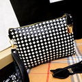 2016 New Weave Knitting Design women leather handbag Designer women messenger bag ladies crossbody bags clutch bolsas femininas