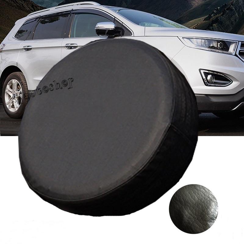 Youwinme Black Pu Car Spare Tire Cover Wheel Auto Tyre Case Rv Truck