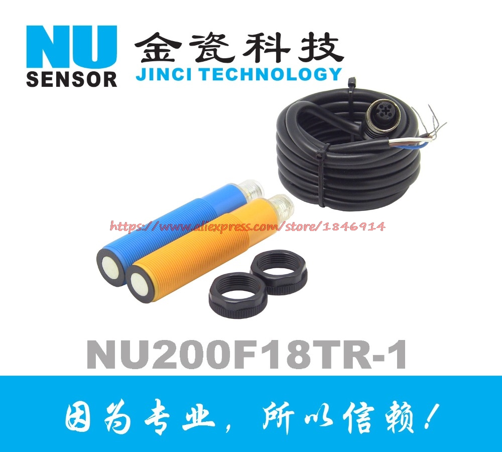 Waterproof type high precision M18 ultrasonic distance measuring sensor NU200F18TR 1MD in Sensors from Electronic Components Supplies