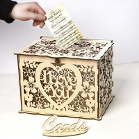 Unique Wooden Wedding Box I Love You Wedding Check in box Wooden Gifts Holder Wedding Favor Party DIY Decoration Supplies