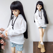 1/6 1/4 1/3 BJD SD Doll Clothes Hooded Sweatshirt Denim Shorts For Dolls Accessories Casual Wear Fashion Clothes Outfits недорого
