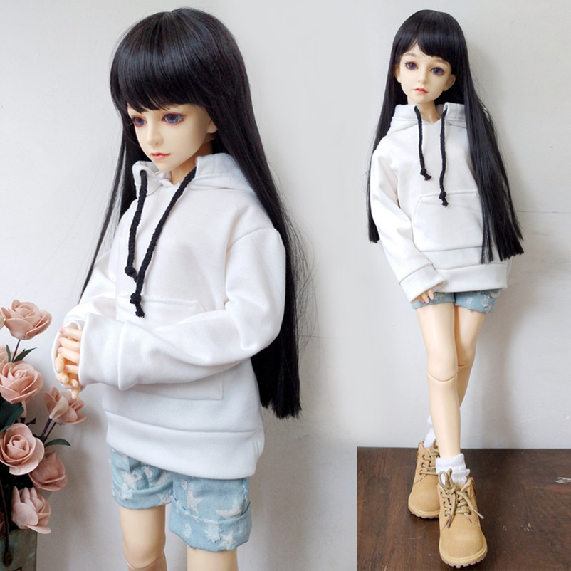 1/6 1/4 <font><b>1/3</b></font> <font><b>BJD</b></font> <font><b>SD</b></font> Doll <font><b>Clothes</b></font> Hooded Sweatshirt Denim Shorts For Dolls Accessories Casual Wear Fashion <font><b>Clothes</b></font> Outfits image