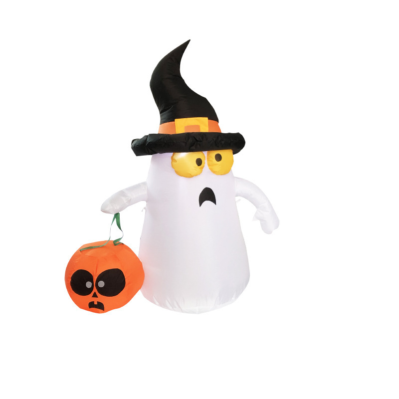 Dutiful Halloween Activity Venue Cloth Layout Props Terrorist All Saints Small Ghost Inflatable Model Gas