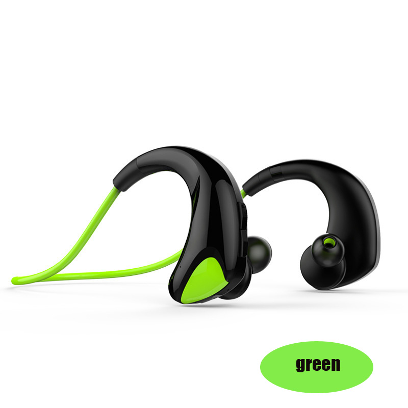 Hyleton Wireless headset Stereo Sports Earphone with Memory wire earhook waterproof IPX5 Bluetooth headphone for IOS/Android