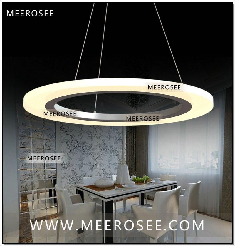 Luxury Modern Chandelier Led Circle Ring Chandelier Light: Modern Acrylic Ring LED Circle Chandelier Lamp LED Hanging