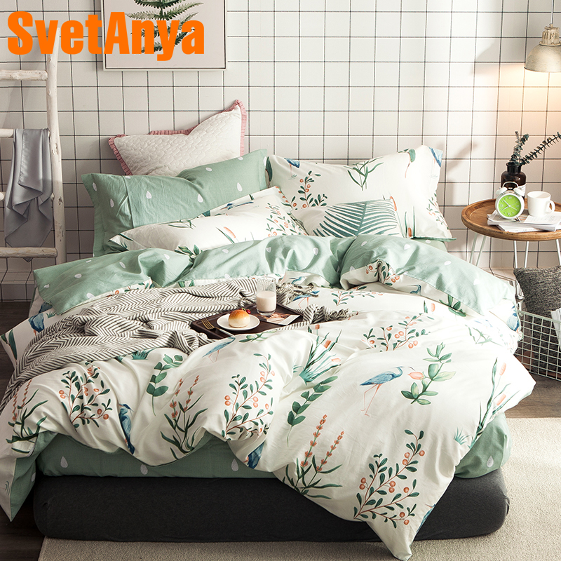 Svetanya Cotton Bedding Sets 4in1 (flat Bedsheet Pillowcase And Duvet Cover)