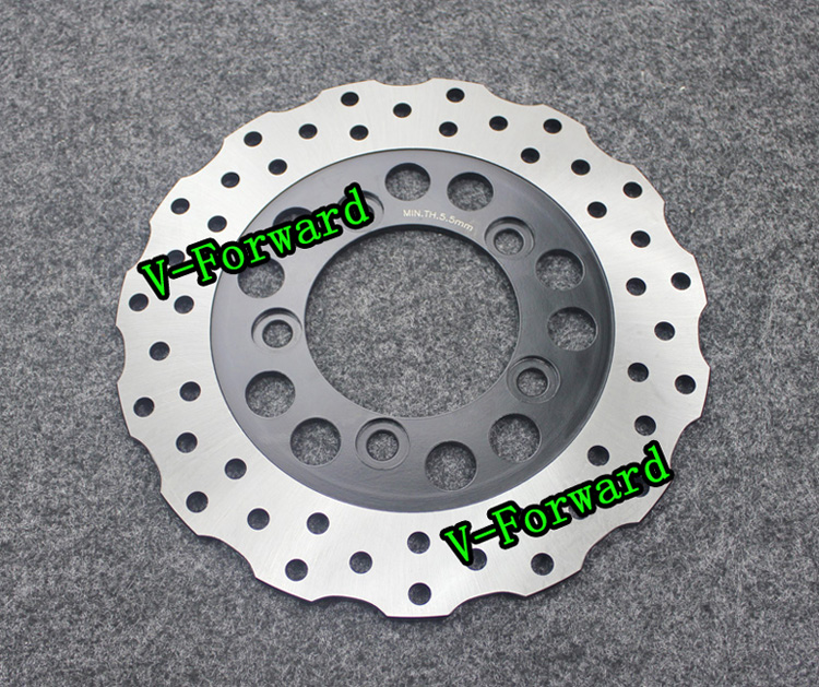 Motorcycle Rear Brake Disc Rotors For ZX7 NINJA 750  99-03/ZX-7R RR 750  96-02/ ZX750 RR  89-95 Universel rear brake discs rotors for zx7 r rr ninja 750 1989 2003 zxr 750 l r 89 95 zx9 r ninja 94 97 gtr 1000 86 93 zephyr 1100 96 97 98