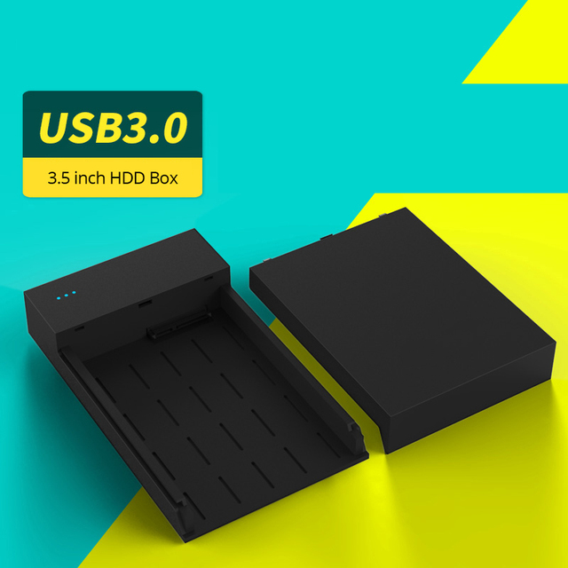 "HDD External Enclosure Tool Free 2.5/3.5 inch USB 3.0 High Speed Hard Drive Disk Box SSD Case For 2.5"" 3.5"" SATA HDD With Power"