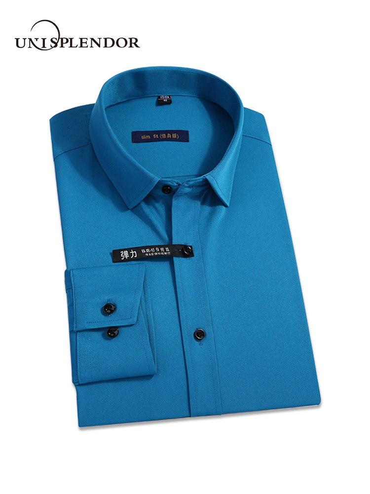 Neue Klassische Bambus Faser Männer Kleid Shirt Einfarbig Mann Social Shirts Büro Tragen Pflegeleicht Regelmäßige Fit Männlichen outwears YN10227