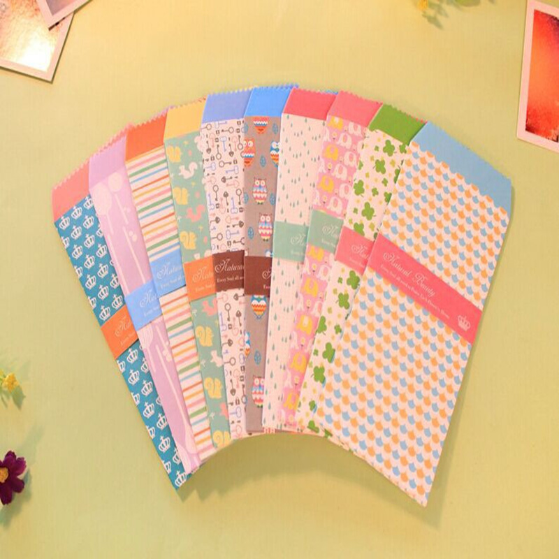 5pcs Korea Stationery Love Envelope School Students Business Office Envelope Multi-function Festival Invitation Paper Envelope