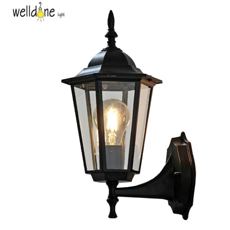 Waterproof Aluminium Die-casting Porch Light Outdoor Wall Lamp Never Rust Cottage Antique Garden Yard Aisle Street Lights Bronze porch lights 24w 2 12 1w led up and down outdoor led wall light vintage waterproof wall lamp stair aisle goalpost big yard lampe