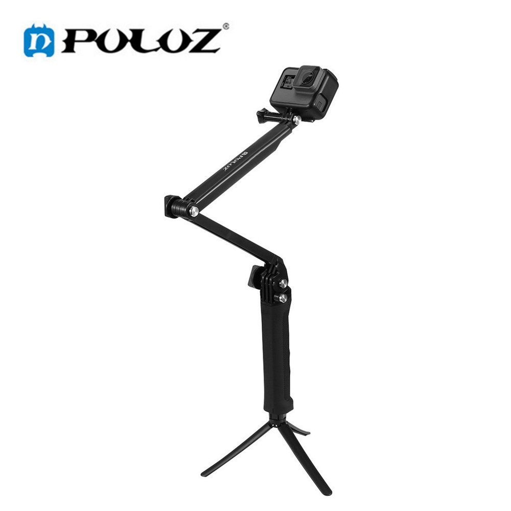 Puluz For Gopro Hero Accessories Puluz 3 Way Grip Arm Tripod Mount Selfie Stick For HERO5