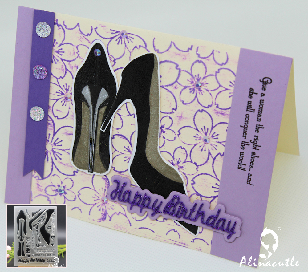 Clear Stamps Love High Heel Shoes Birthday Wish Scrapbook
