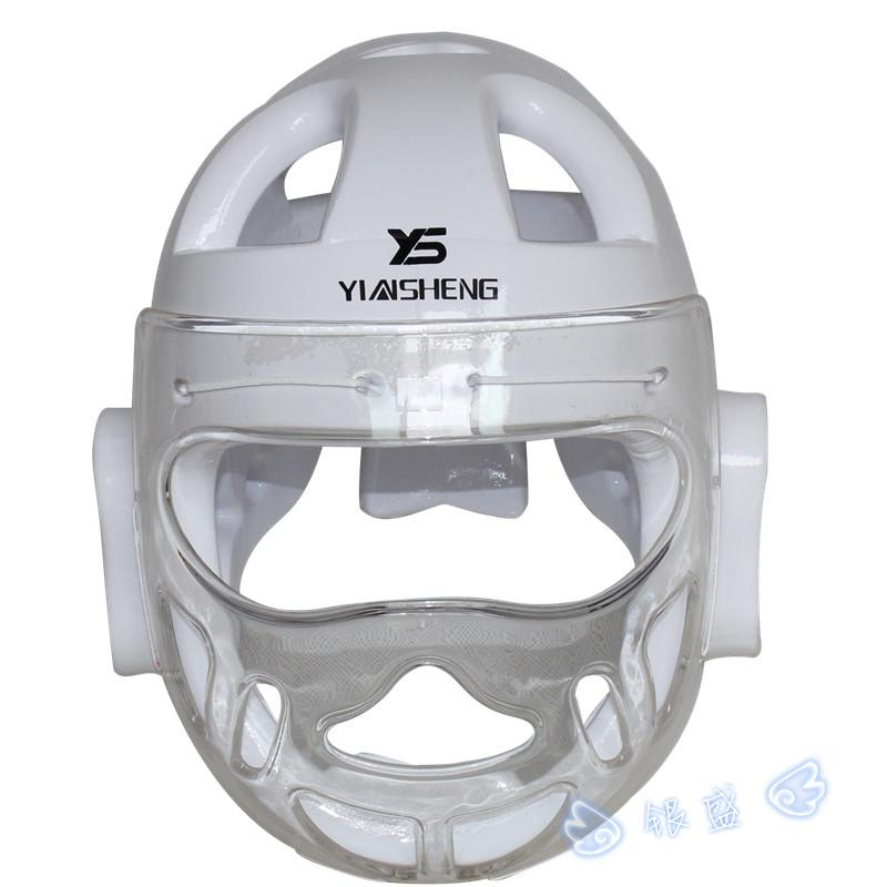 Белый Цвет взрослых детей каратэ шлем фитнес тхэквондо шлемы WTF протектор головные уборы с маска на лицо полный защитной поддержки
