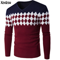 2016 Winter Sweater Men Casual Men Sweaters V-Neck Knitwear Cotton Pullover Slim Skinny Fit Pull Homme Outwear Sweater For Men