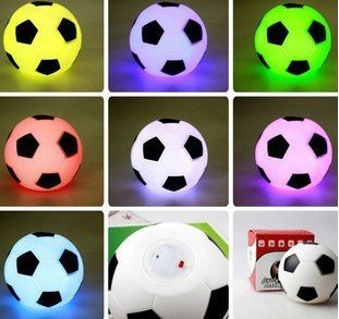 Free shipping Wholesale Valentine's Gifts LED Flashing PVC Football Light 1pc/box 50pcs/lot Fast delivery