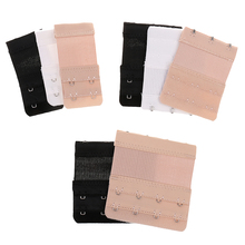 8pcs Elastic Bra Extenders 2/3/4 Hooks 2 Rows Comfort Adjustable Strap Extension for Women Increase the Intimates Size