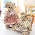 Высокое Качество Супер Милая Пара Плюшевых Мишек в Юбке Плюшевые Игрушки Фаршированные Куклы 1 Пара 35 см