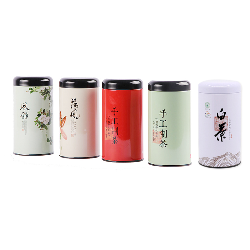Xin Jia Yi Packaging Box Food Grade Metal Tin Round Boxes With Connect Lid For Recycling One Gallon Tea Container Factory Sale