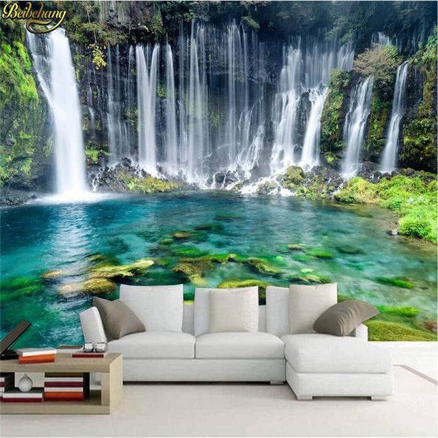 aesthetic landscape background simple wall falls sticker custom papel beibehang mural parede zoom wallpapers mouse improvement