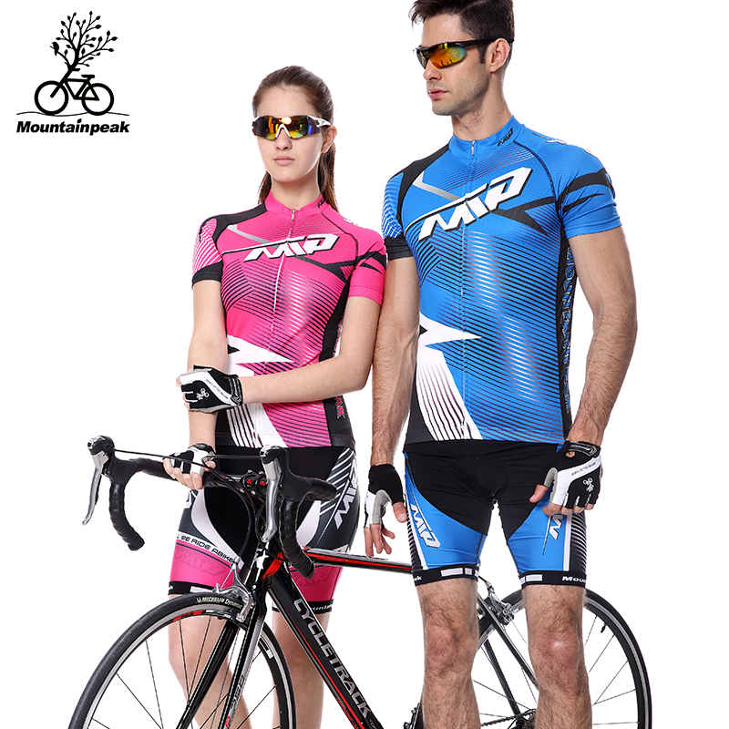 2017 Summer Short Sleeve Man&Woman Thin Air Cycling Jerseys Suit Mountain Bike Quick Dry Riding Jersey Pants Bike Clothing Sets