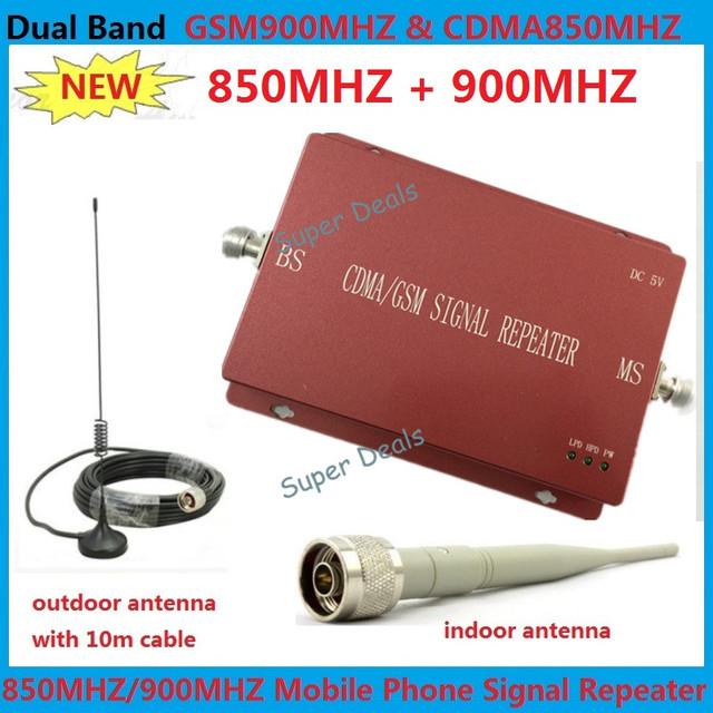 2016 nuevo teléfono celular de refuerzo 850 Mhz gsm 900 Mhz señal móvil de refuerzo repetidor inalámbrico de banda dual gsm cdma de refuerzo amplificador kits