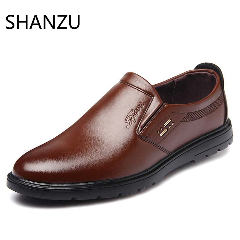 Fashion Men Dress Shoes Leather Oxford Shoes Lace Up Casual Business Slip On Formal Men Shoes